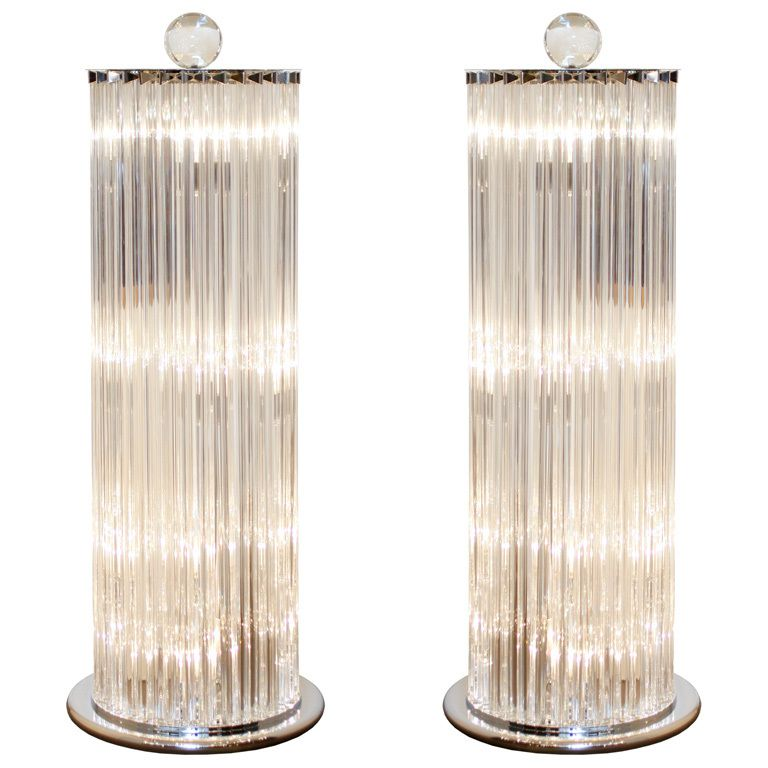 Amazing pair of murano glass floor lamps late 20th century amazing pair of murano glass floor lamps by venini originally made for fendi italy mozeypictures Images