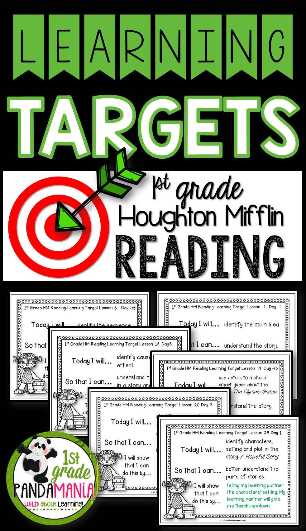 Learning Target Posters For The Year Houghton Mifflin Journeys 2011 Reading For 1st Grade Post Daily Learning Int Learning Targets Everyday Math Pearson Math [ 1700 x 982 Pixel ]