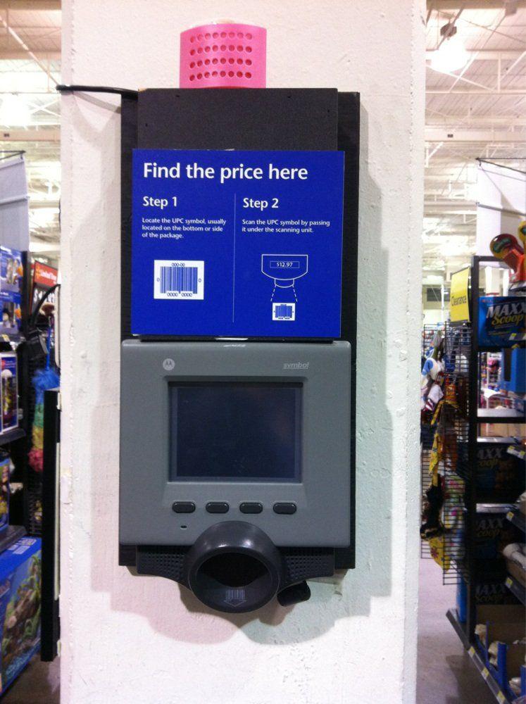 Walmart Supercentre Price Checker Vancouver Bc Canada Atm