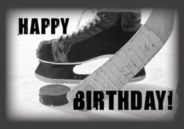 Hockey Happy Birthday Card Zazzle Com In 2020 Happy Birthday Cards Birthday Cards Happy Birthday