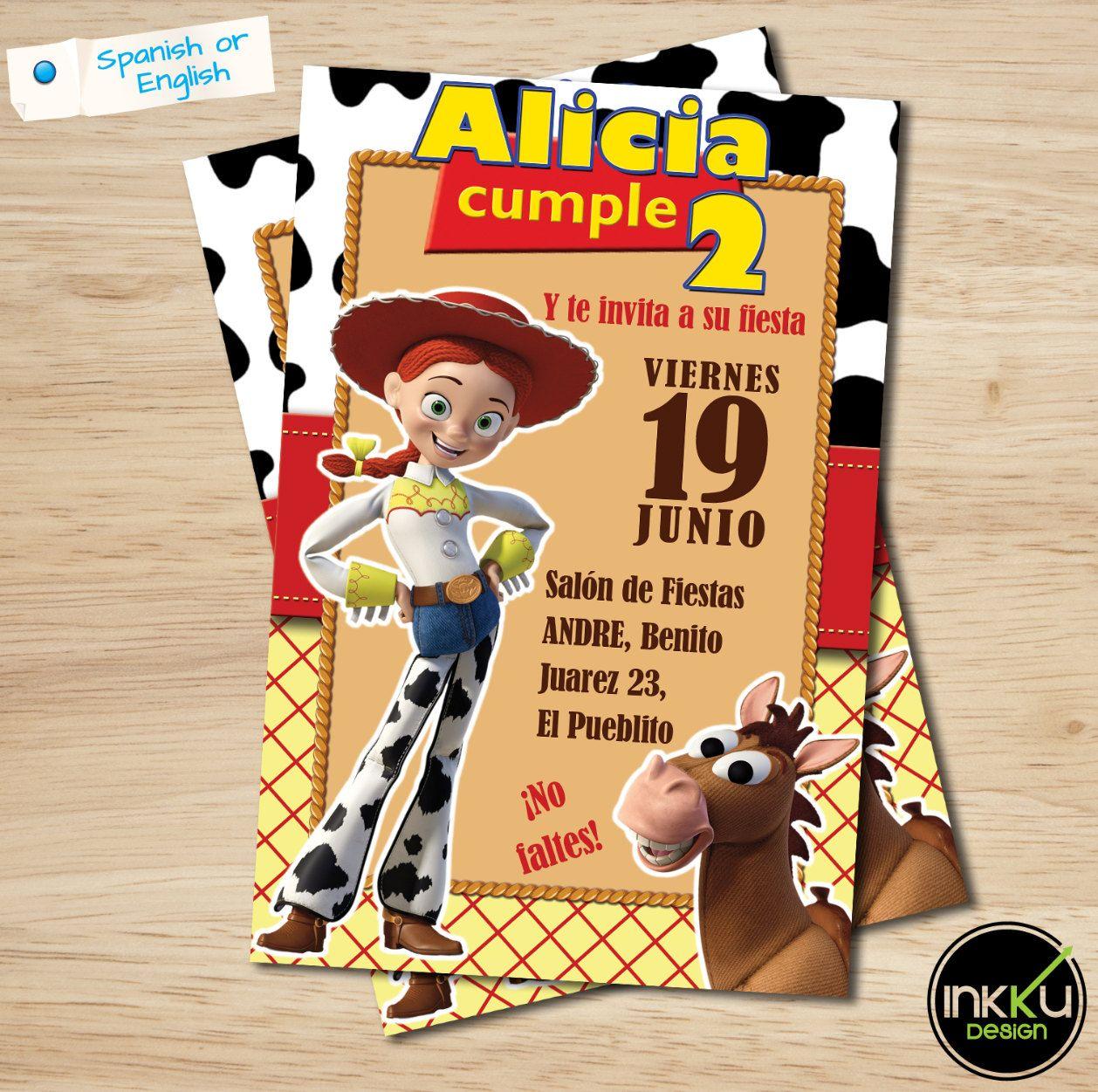 Toy Story Invite Jessie invitation Toy Story Birthday Party