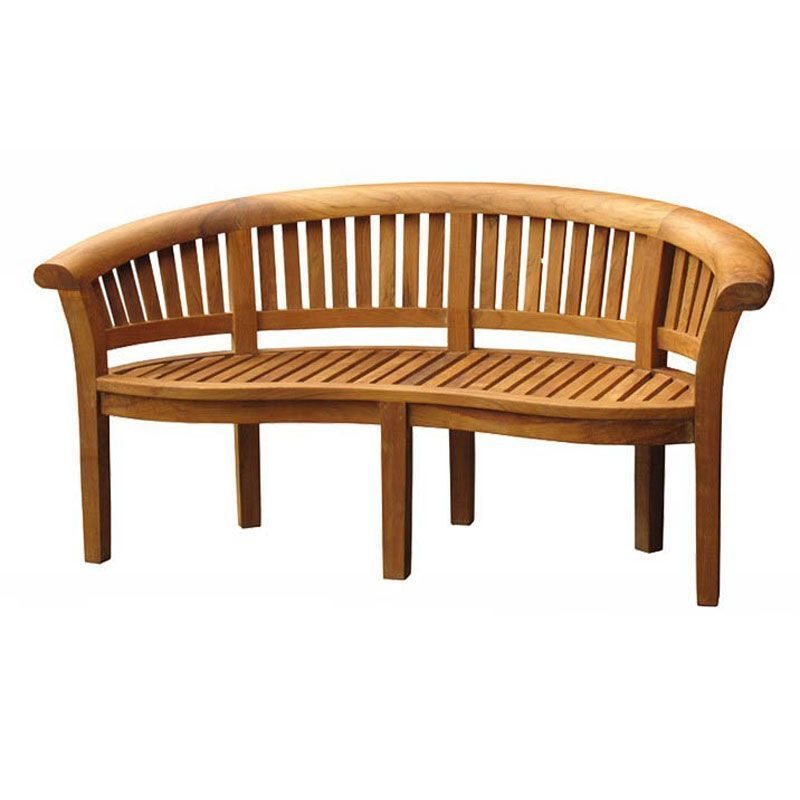 Curved Teak Garden Bench 3 Seater Outdoor Patio Porch Lawn Wooden Seat Furniture Teak Outdoor Furniture Teak Garden Bench Teak Furniture