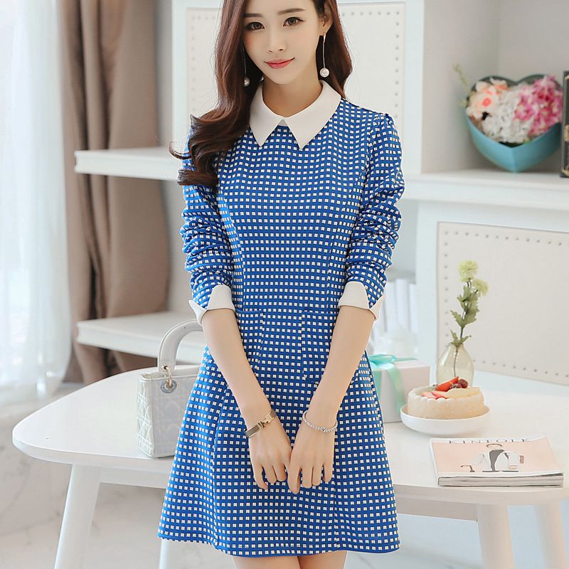 Robe Moulante Quality Women Office Dresses Directly From China Dress Suppliers 2016 Plaid Sching Bottoming Korean