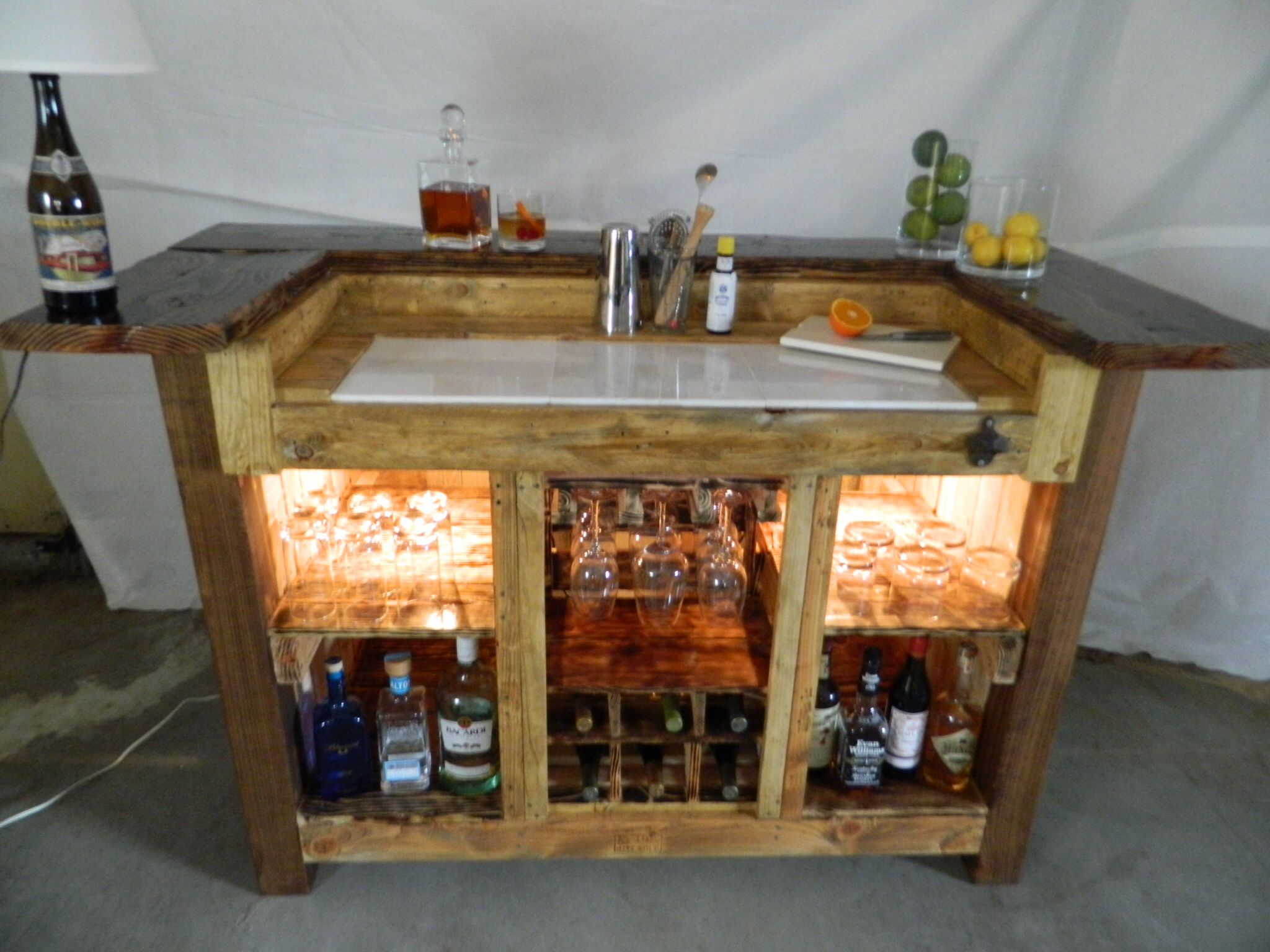 Bar Made Out Of Pallets Home Bar Made Entirely Of Driftwood Palletwood And Industrial