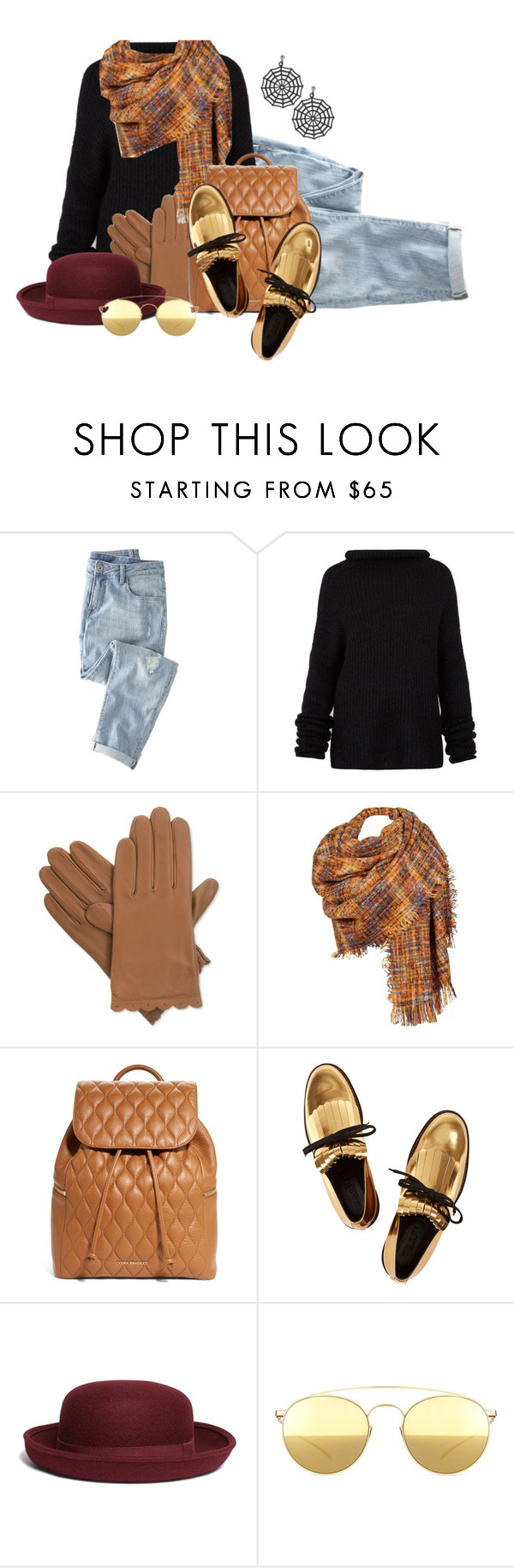 """Casual and stylish in black"" by no-where-girl ❤ liked on Polyvore featuring Wrap, Haider Ackermann, Isotoner, Black Rivet, Vera Bradley, Marni, Brooks Brothers and Mykita"