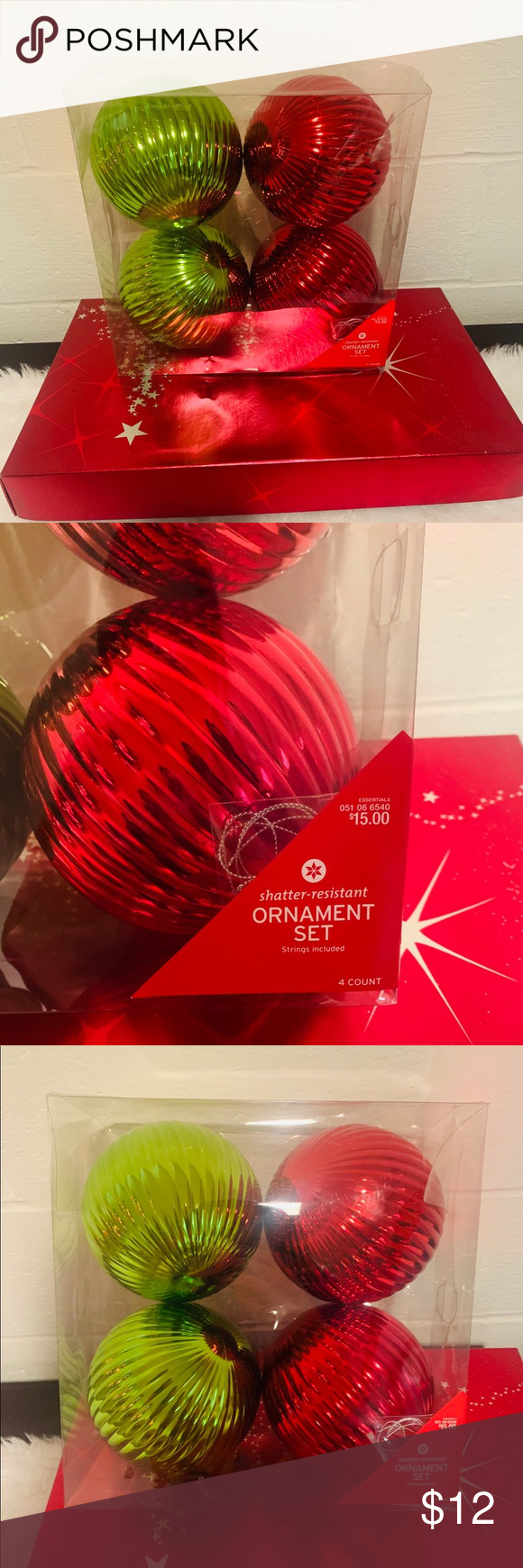 Brand new giant ornaments Target holiday, Ornament set