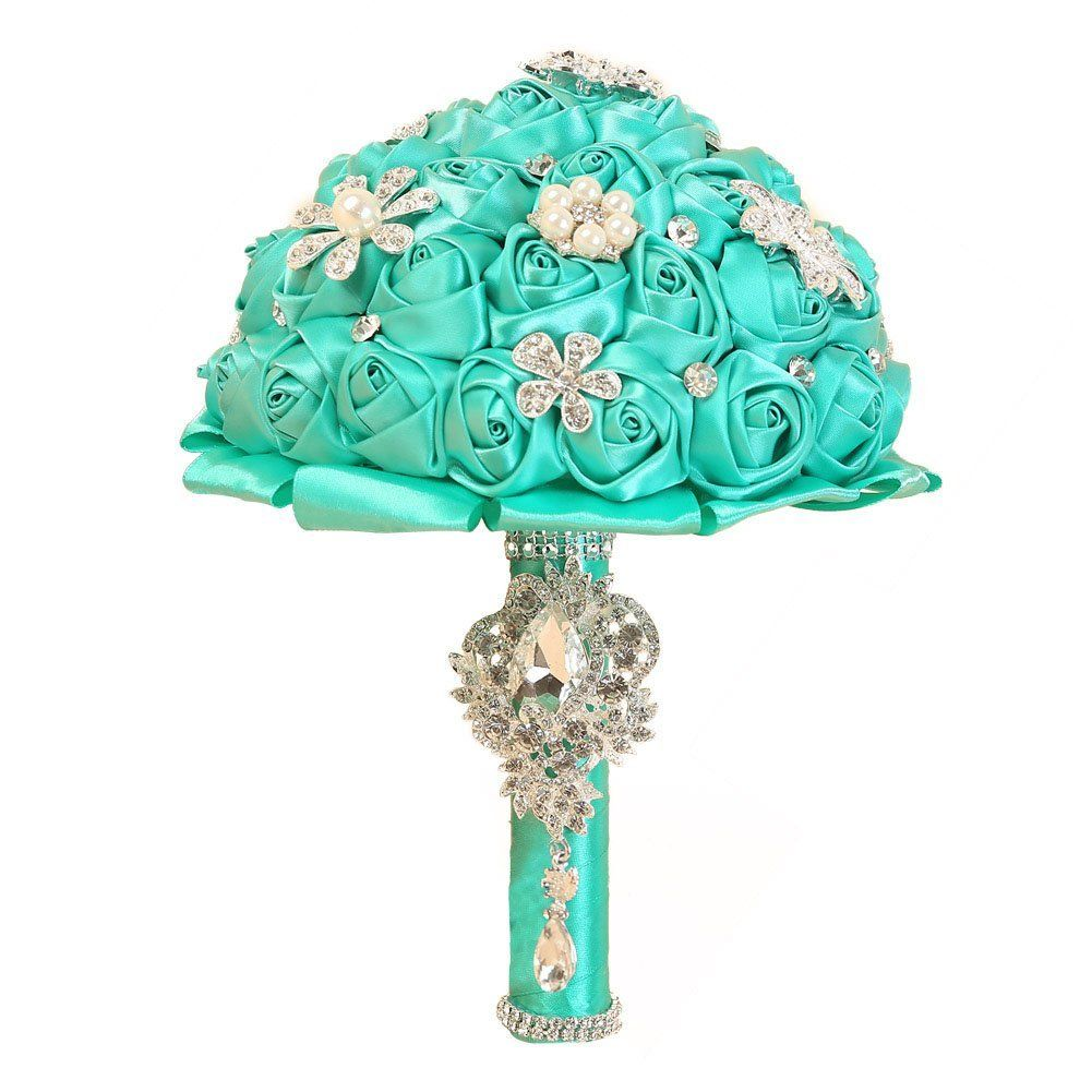 Amazon.com: OurWarm Handmade Diamond Pearl Rhinestone Brooch Bridal ...