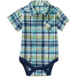 Walmart Baby Boy Clothes Newborn Boys' Woven Plaid Creeper $7 Walmart  What To Buy When You