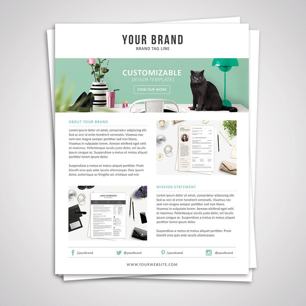 Product Media Kit Template 07 Press Kit Pitch kit
