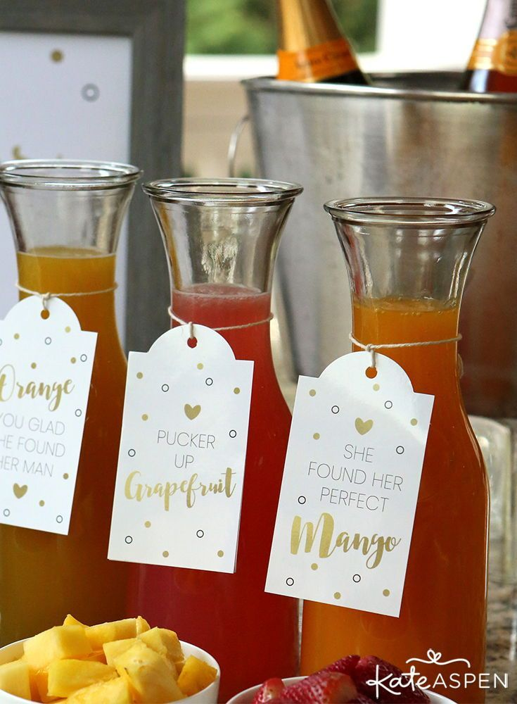 Mimosa Bar 10 Piece Kit Kate Aspen Perfect For Any Brunch Afternoon Wedding Bridal Shower In 2020 Bubbly Bridal Shower Wedding Shower Brunch Bridal Shower Brunch