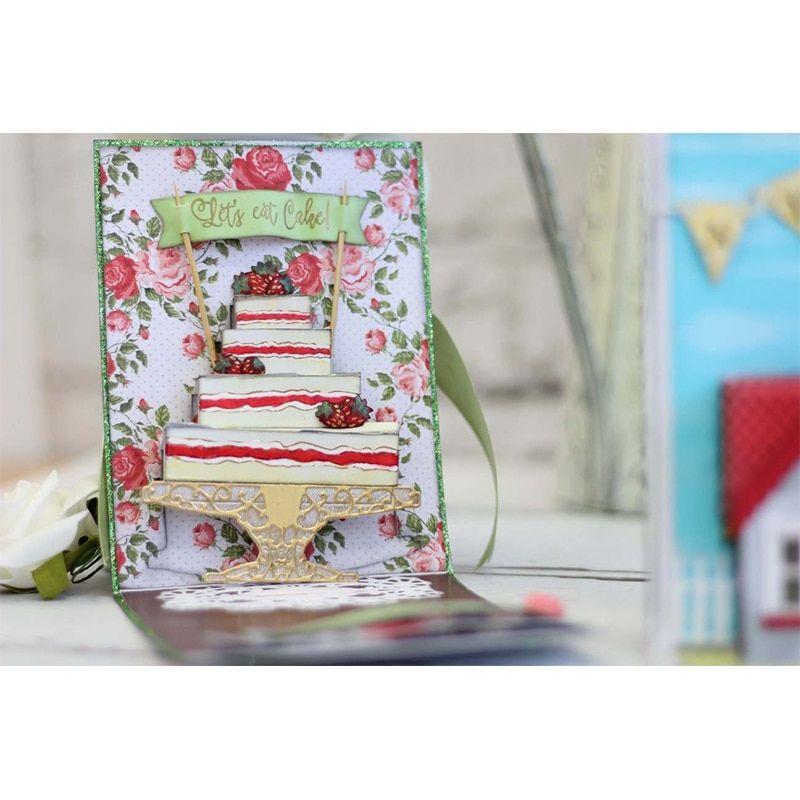 DIY Birthday Cake Cutting Die Stencil for Scrapbook Album Embossing Paper Card