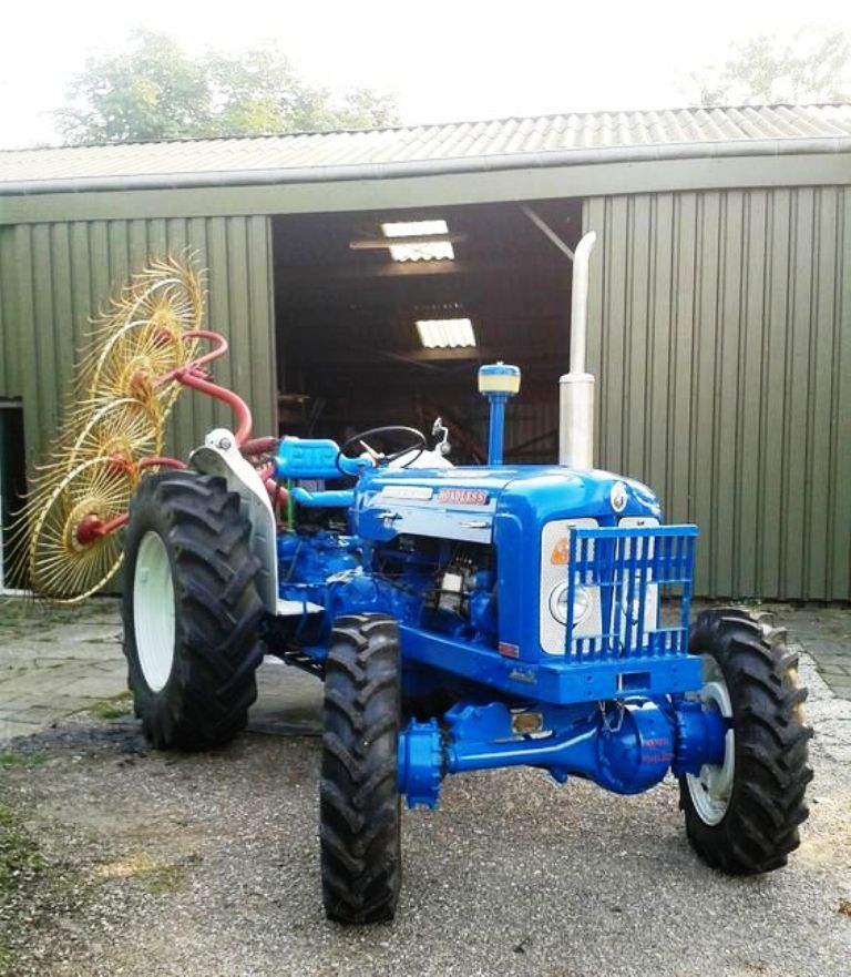 FORDSON. SUPERMAJOR, FWD Tractor with a hay rake