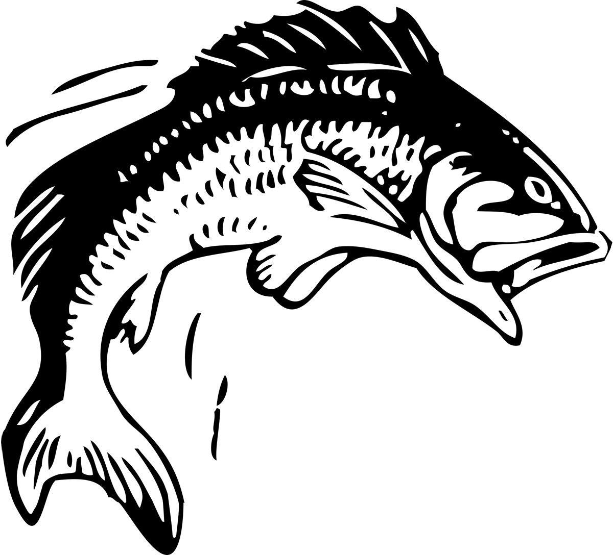 Clip art fish bass fishing clip art free printable fish stencils ...