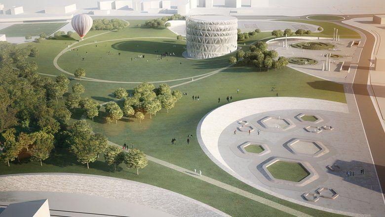 Piazza d\u0027Armi urban park at L\u0027Aquila, L\u0027Aquila, 2012 - modostudio