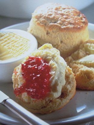 Traditional English Tea Time Scones With Jam And Cream Recipe In