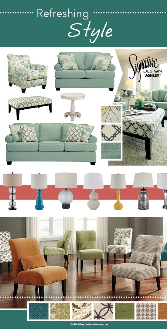 Refreshing Style Spring Furniture And Accessories Ashley Furniture Ashleyfurniture Pinterest Room Decor Living Room Colors Color Palette Living Room
