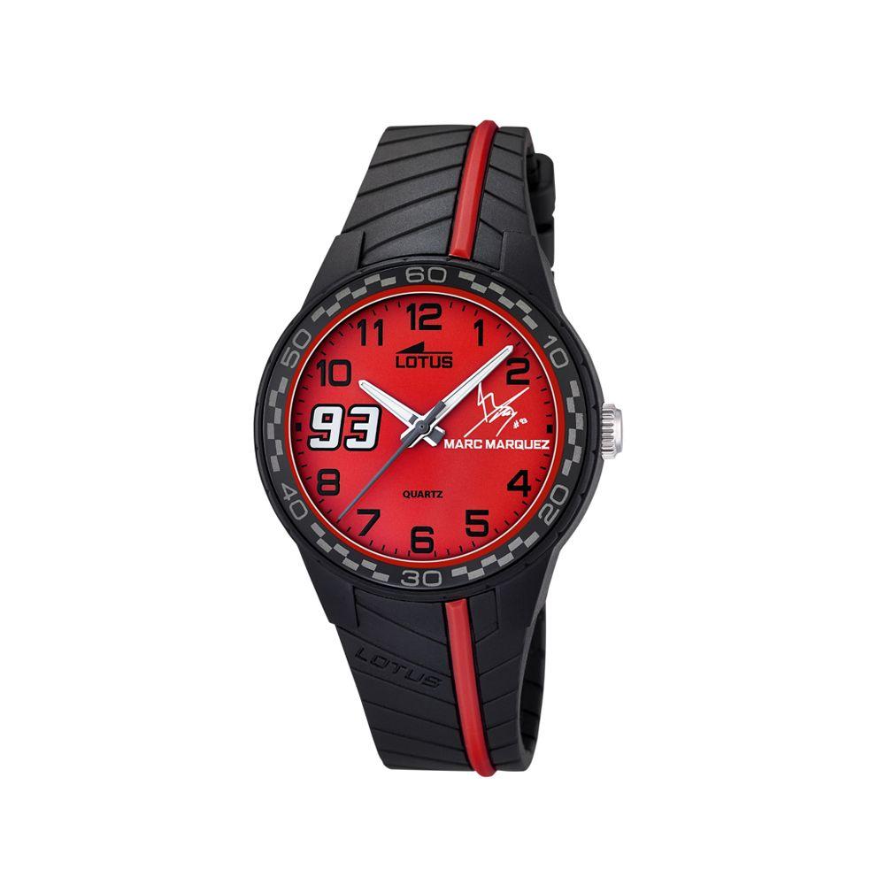 Reloj Lotus Marc Márquez Para Niño Viene Con Correa Extra De Caucho En Rojo Movimiento Quartz Resistente Al Agua De 50 Metr Relojes Lotus Reloj Marc Marquez