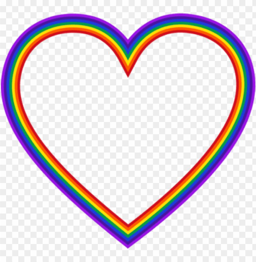 Rainbow Heart Color Computer Icons Rainbow Heart Frame Png Image With Transparent Background Png Free Png Images In 2021 Rainbow Png Love Png Heart Overlay