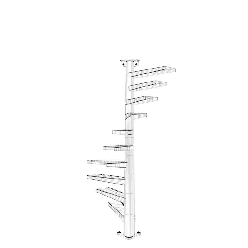Best 3D Model Of Real Floating Spiral Staircase Escadas 400 x 300