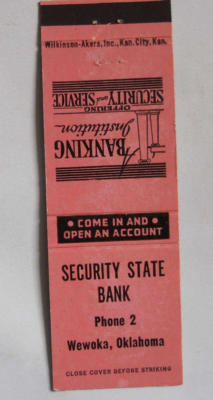 196 Security State Bank Wewoka Ok Wewoka Loan Company