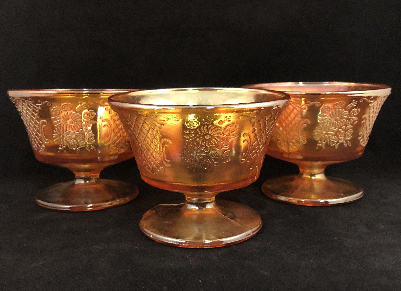 Federal Glass Co Glass Normandie Sunburst Sherbet Vintage
