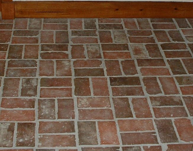 You can 39 t get a better looking brick tile than the ones for Brick kitchen floor ideas