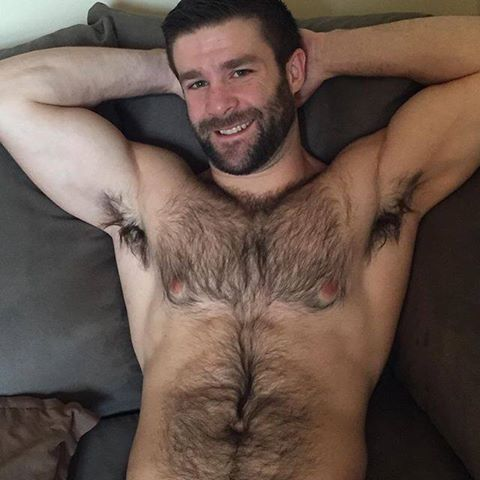 Hairy and horny men