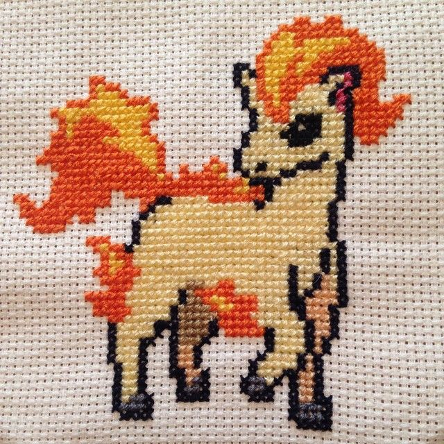 Ponyta #pokemon #ponyta #crossstitch