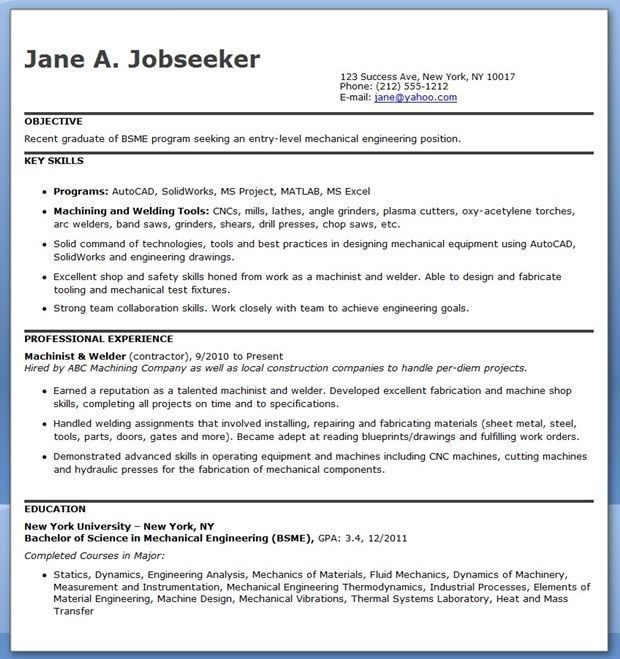 Mechanical Engineer Resume Sample Well Designed Mechanical