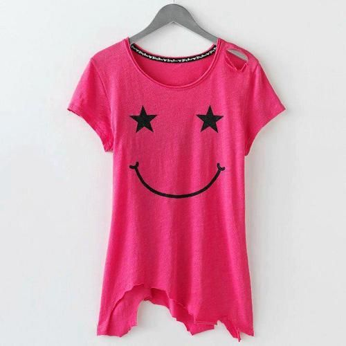 ABBEY DAWN T SHIRT SMILEY CROP TOP