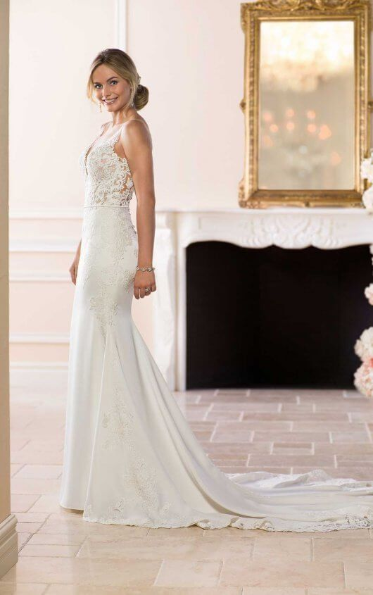 Simple and Sleek Wedding Gown | Stella york, Gowns and Weddings
