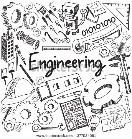 Mechanical Electrical Civil Chemical And Other Engineering Education Profession Handwriting Doodle Icon Tool Sign Engineering Quotes Doodle Icon Engineering