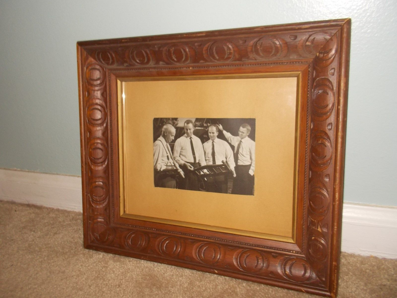 #Art Vintage Carl Forslund Black & White Framed Picture Wall