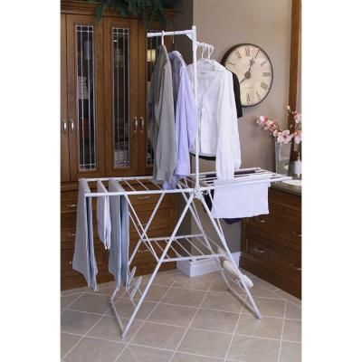 Greenway collapsible indoor clothes drying rack gfr0401ws the greenway collapsible indoor clothes drying rack gfr0401ws the home depot sciox Choice Image