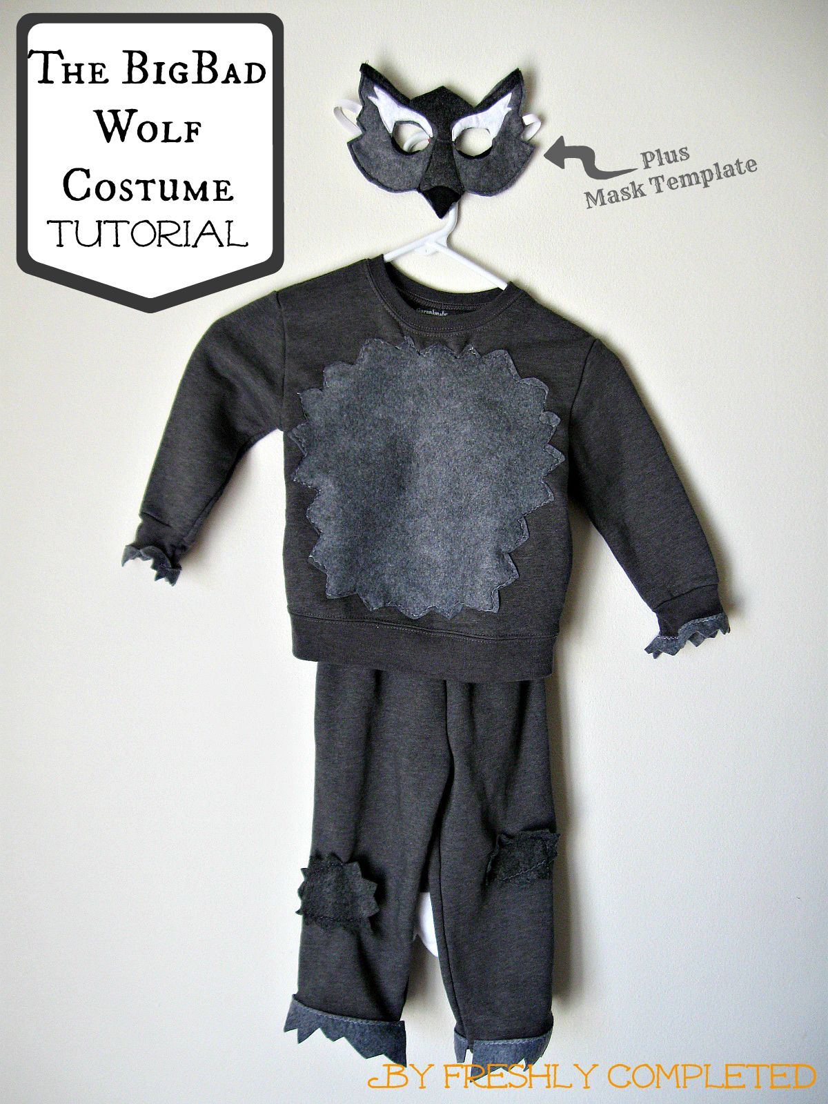 Freshly Completed The Big Bad Wolf Costume Tutorial Big Bad Wolf Costume Wolf Costume Kids Wolf Costume