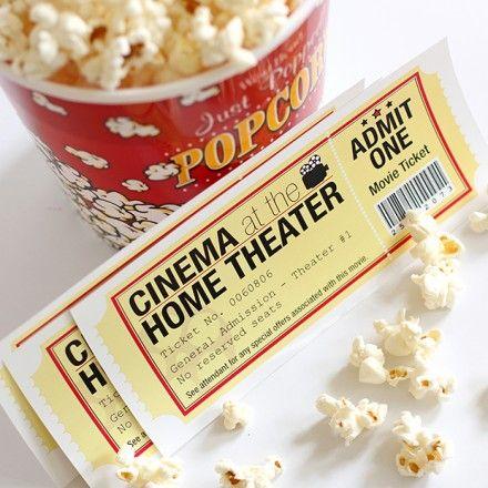 Freebie Freebies printable, Movie and Free printable - food ticket template