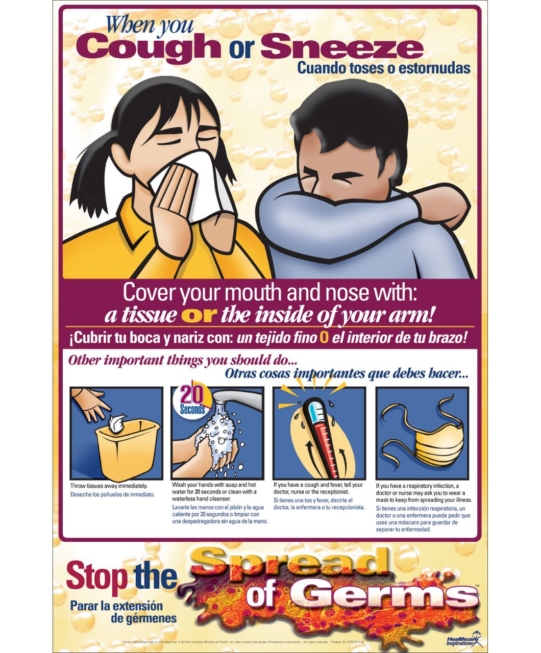 Cover Your Cough Poster School Nurse Posters Health Knowledge
