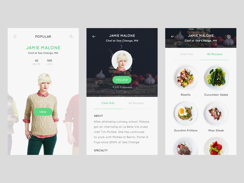 Profile screen - Recipe app by Thomas Budiman