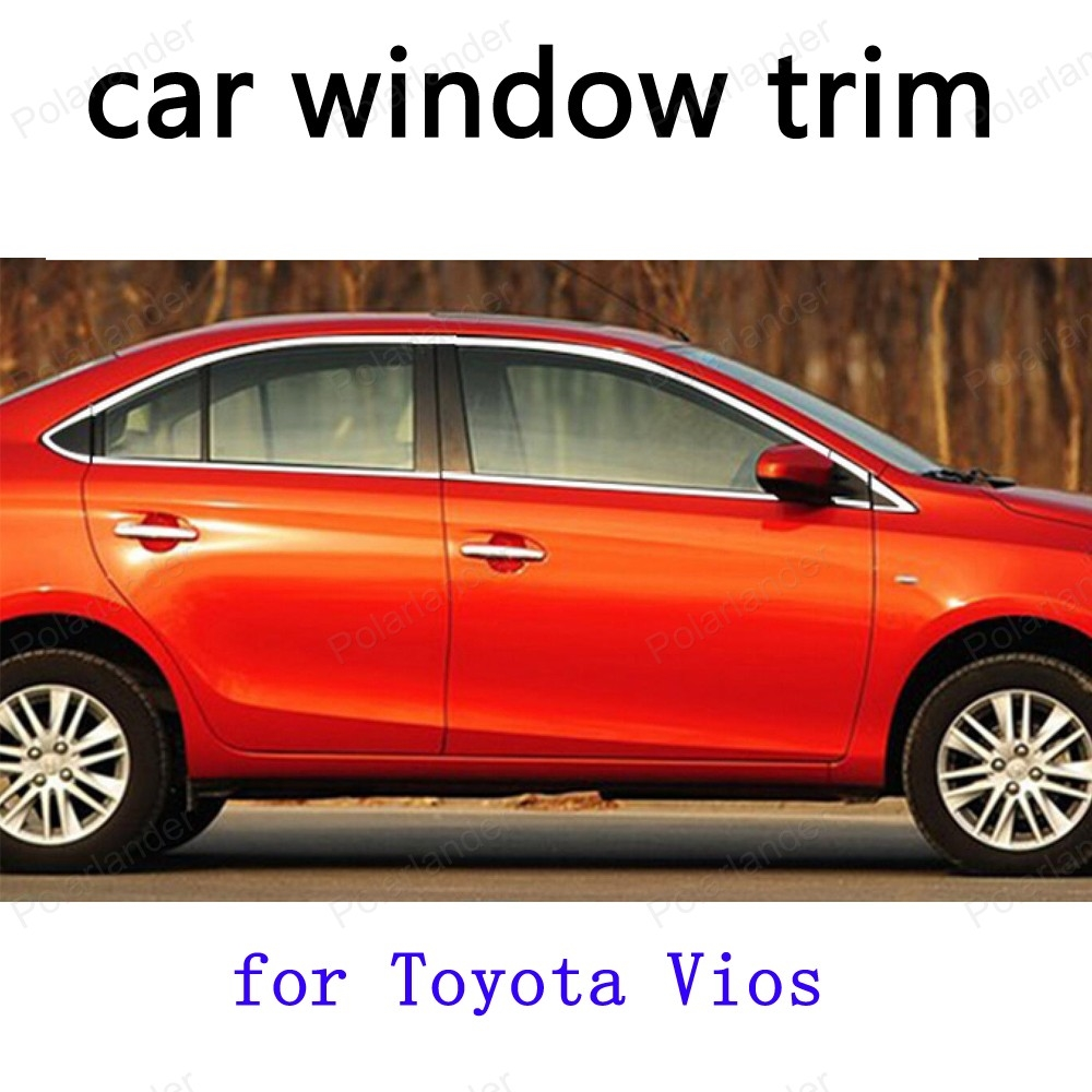 For toyota vios window trim decoration strips stainless steel car exterior accessories