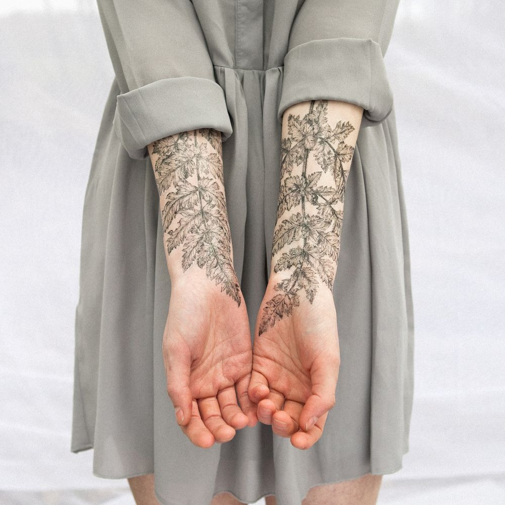 NATURE GIRL Fern & Crystals Temporary Tattoo Set / The Aviary
