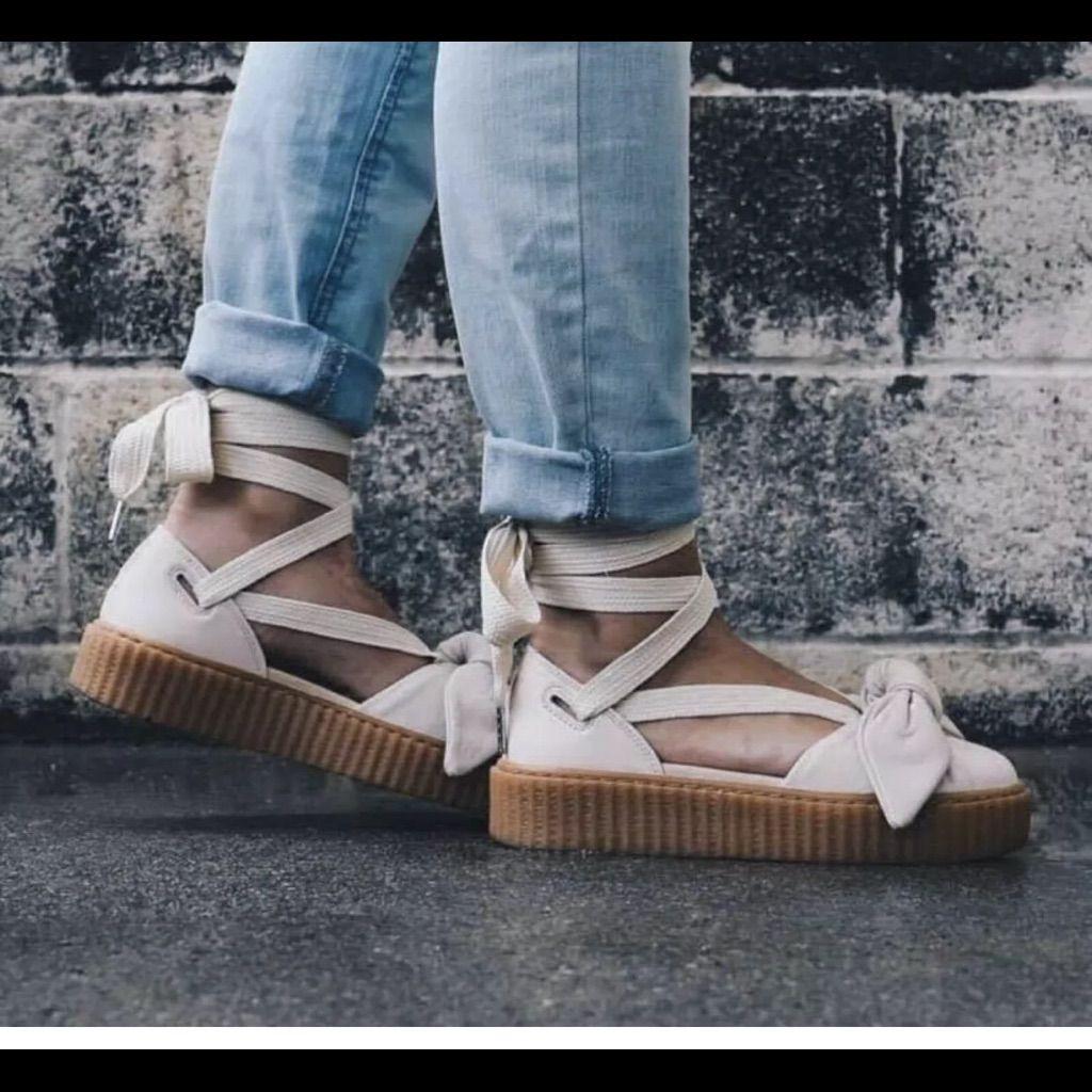 the latest 88e79 5a6ed Puma Shoes | Nwot Fenty Puma Lace Up Creeper Sandals | Color ...