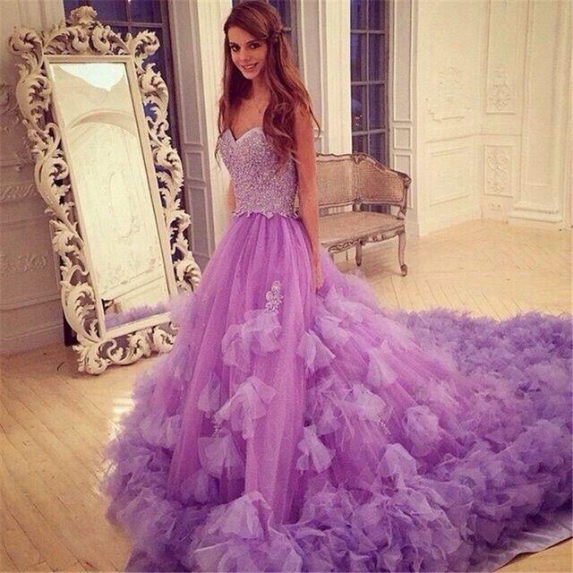 ruffles princess new purple quinceanera dresses beaded sweetheart