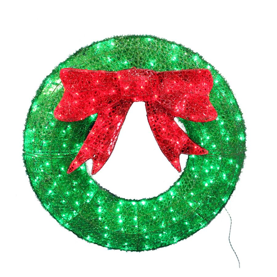 Pin by annora on home interior pinterest lighted wreaths holiday living pre lit green sequin indooroutdoor artificial christmas wreath with led lights aloadofball Gallery