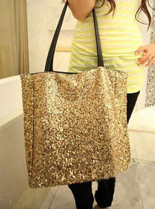 #Udobuy Glod Messenger Shoulder Bag With Studded