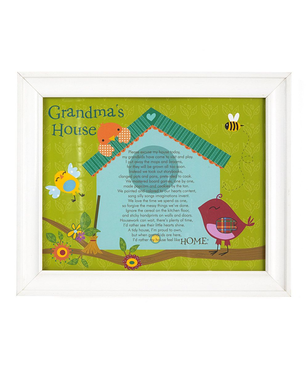 Grandparent gift company white grandmas house poem frame frames jeuxipadfo Gallery