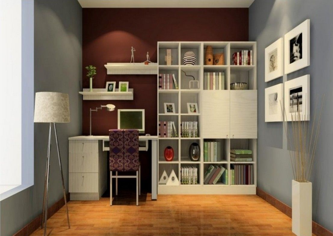 Wall Bookshelf Ideas Part - 21: Furniture, Wood Bookcase With Unique Design Ideas: Study Rooms Ideas White  Hanging Wall Bookshelves And Bookcase Light Blue And Brown Wall