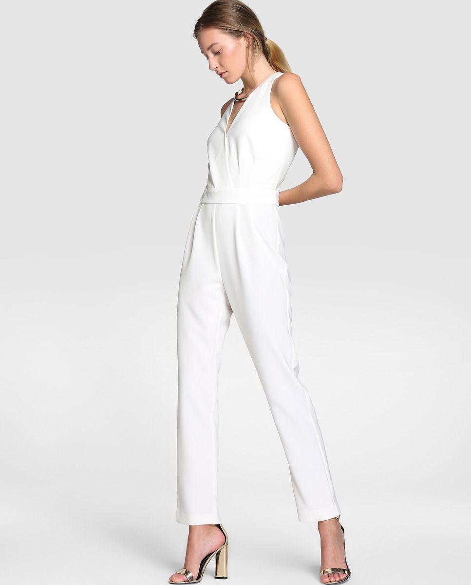 6eb666b739f7 Mono largo de mujer Elogy en color blanco | Fashion Schmashion ...