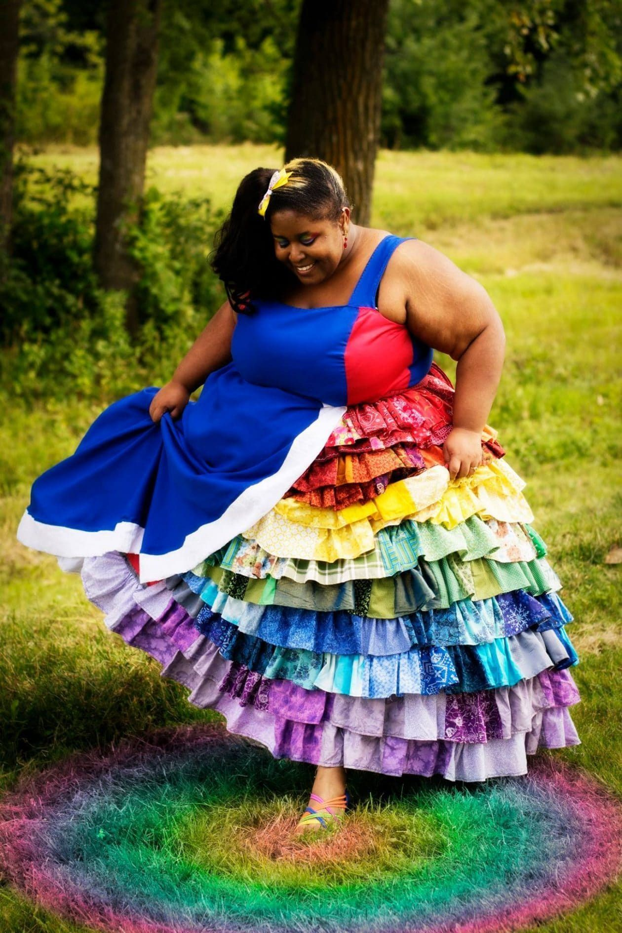 16 plus size halloween costume inspirations to try!   rainbow