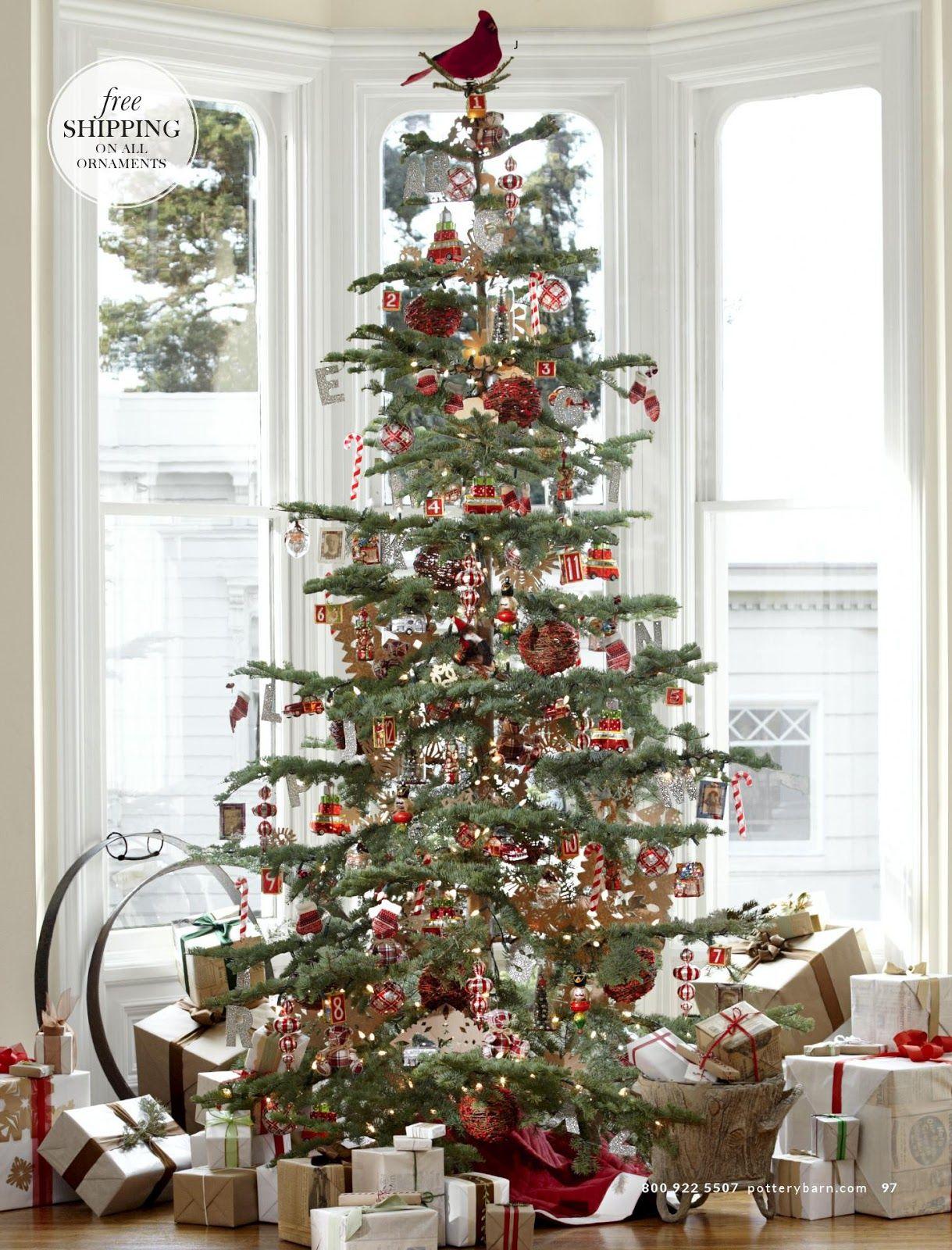 LOVE....Pottery Barn Nostalgia Tree | Have A Holly Jolly Christmas ...