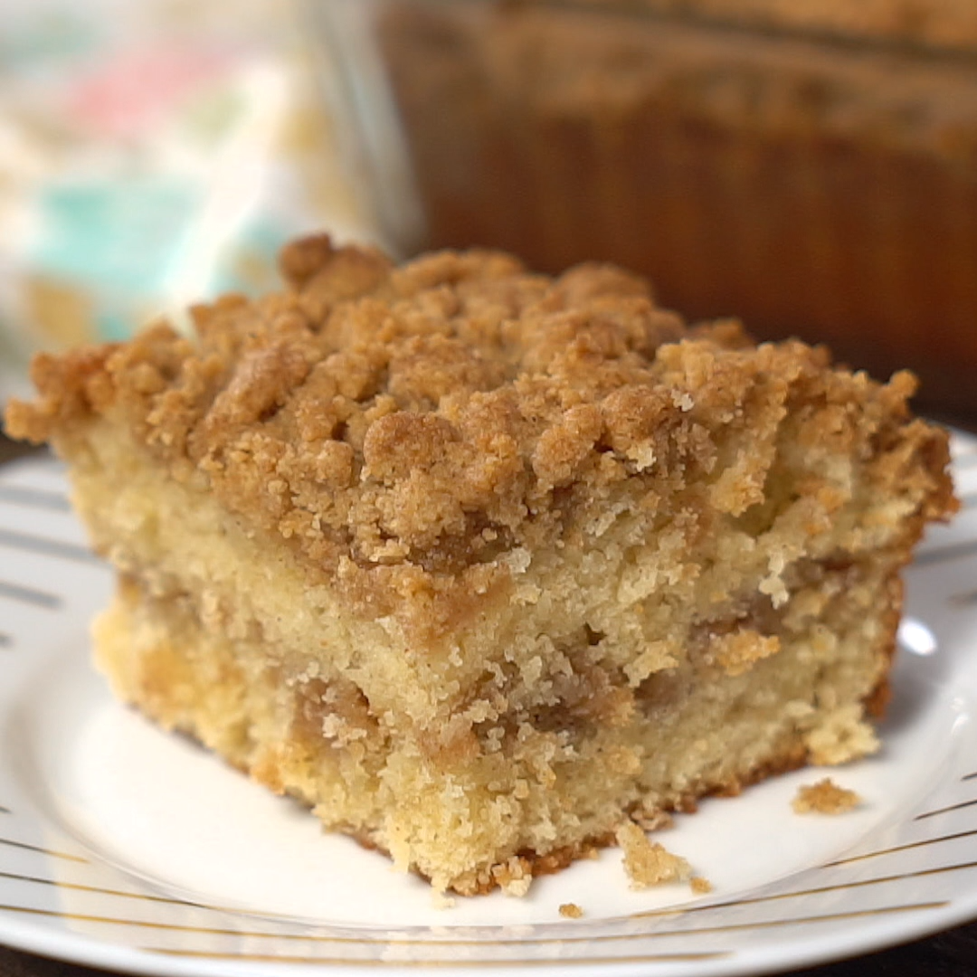 Cinnamon Sour Cream Coffee Cake Larissa Cakerdd In 2020 Coffee Cake Recipes Easy Moist Coffee Cake Recipe Sour Cream Coffee Cake
